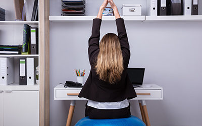 business-woman-stretching