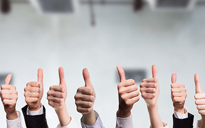 various-office-workers-giving-a-thumbs-up